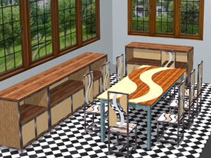 dining room created in Polyboard