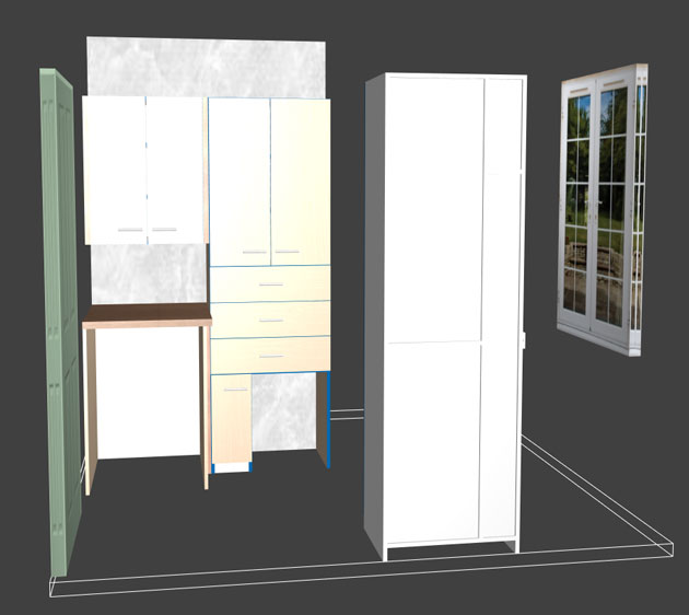 3D bathroom project in Polyboard