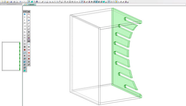 wine rack in polyboard using complex tooling