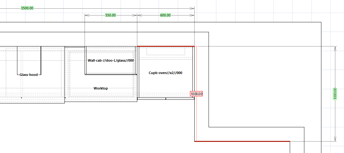 Polyboard's Project Mode with dimensions