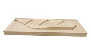 curved stringboard in block