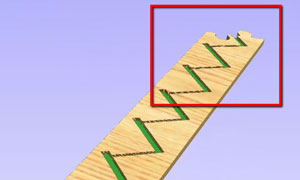 stair puzzle joint in cam software