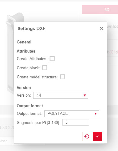 3d dxf polyface hardware settings