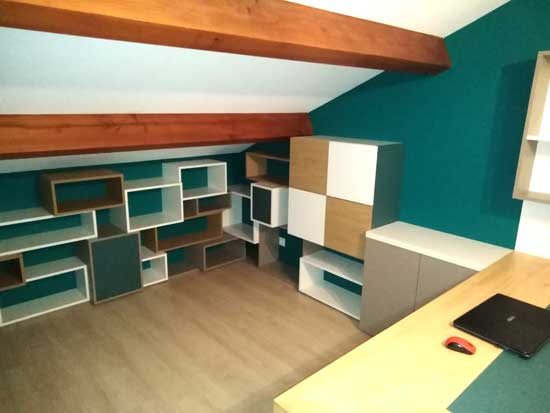 Image of home office cabinetry