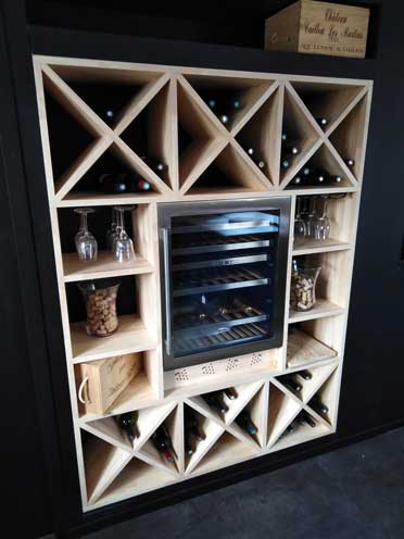 wine cellar designed using polyboard