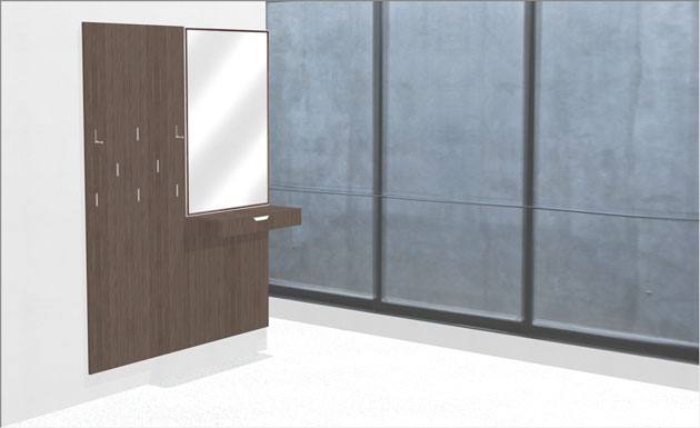 contemporary coat rack model polyboard