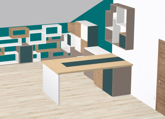 home office designed in polyboard