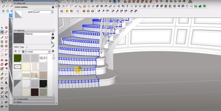 sketchup stair example