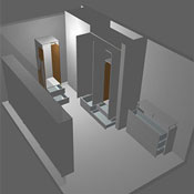 dressing room using free cabinet design software