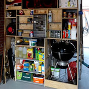 garage storage made with free cabinet design software with cutlist
