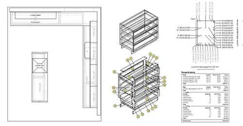 kitchen created using cabinet plan service