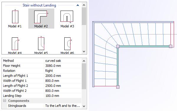 stair models in stairdesigner
