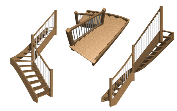 3d stair design models