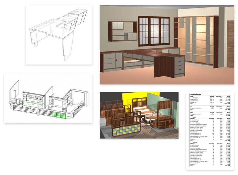 range of polyboard cabinets