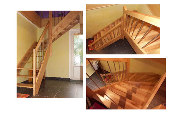 the finished staircase design