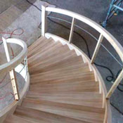 curved stair design using stair designer
