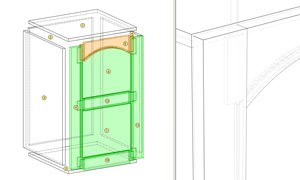 frame and panel door in polyboard