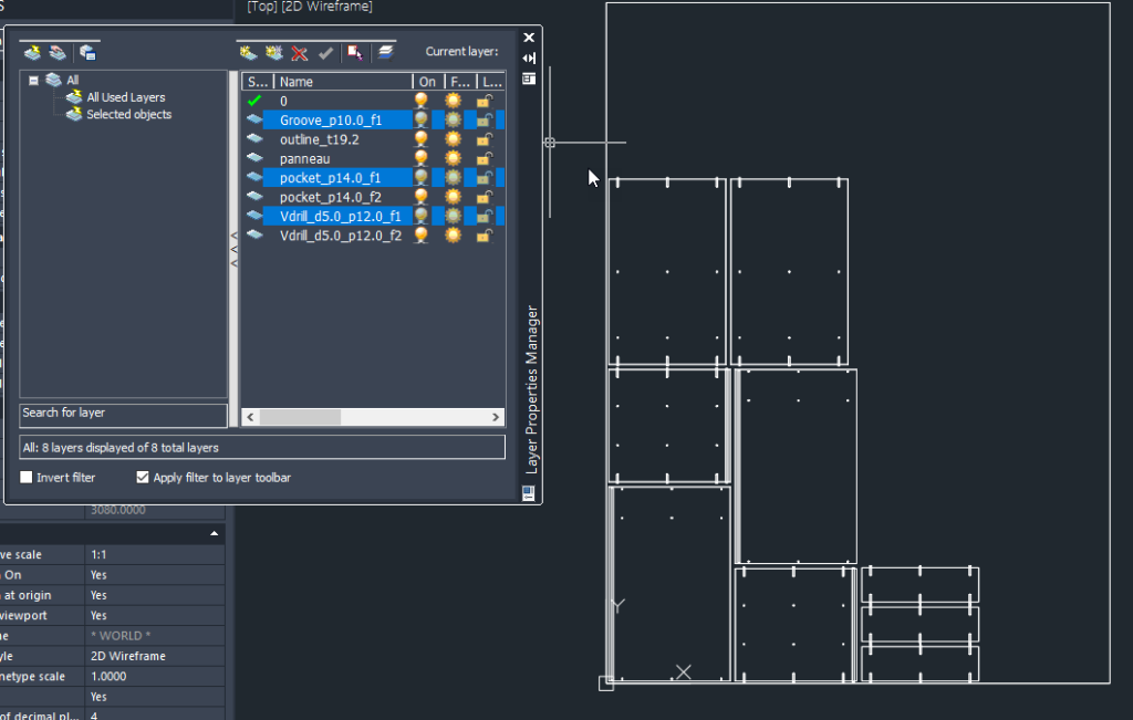 optinest dxf output with layer name for each machining operation