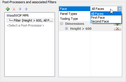 polyboard post processor filter panel faces