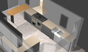 kitchen project in polyboard