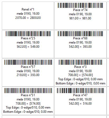 OptiCut labels