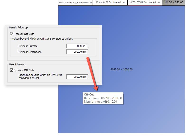stock management in OptiCut sheet cutting optimization software