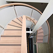 curved stair created in stairdesigner software