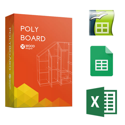 opticut and polyboard or spreadsheet integration