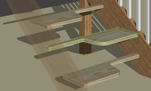 curved shaped steps using stair designer software