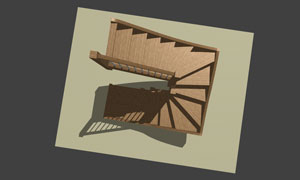 s shaped, l shaped, u shaped stairs in stairdesigner