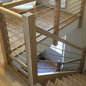 wood metal staircase project