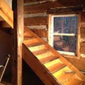 log stair project