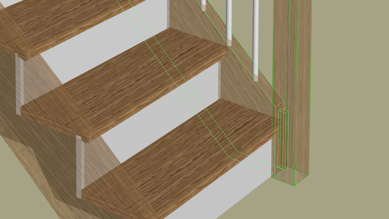 Newel post design and manufacturing in StairDesigner